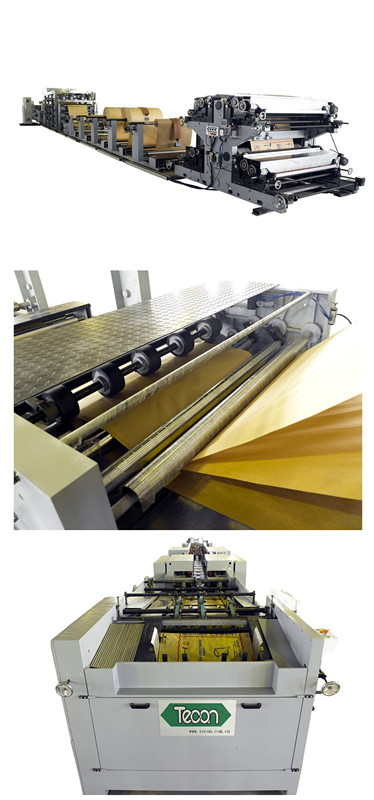 Professional Brown Paper Bag Making Machine for Lime , Mortar , Concrete Bags Manufacturing